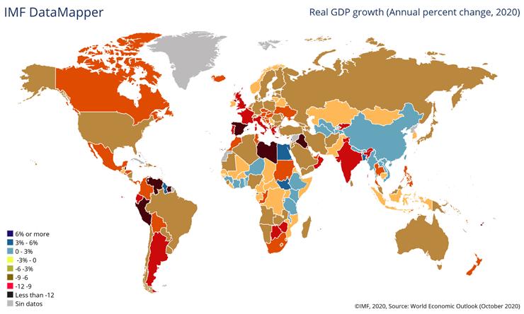 Caída PIB mundial 2020 COVID - 19