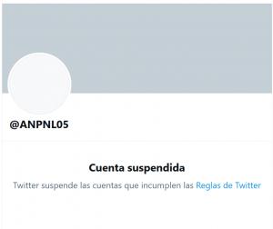 Paty Naviad cuenta de twitter suspendida