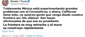 Trump´s tweet against Mexicans