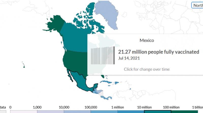 Vacunaci´+on en México en tiempo real