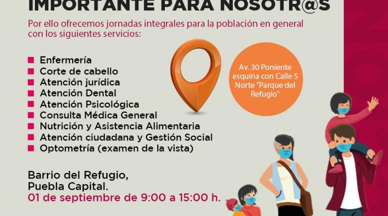Este 1 de septiembre Ayuntamiento realizará jornada de servicios profesionales gratuitos a toda la ciudadanía de Puebla capital