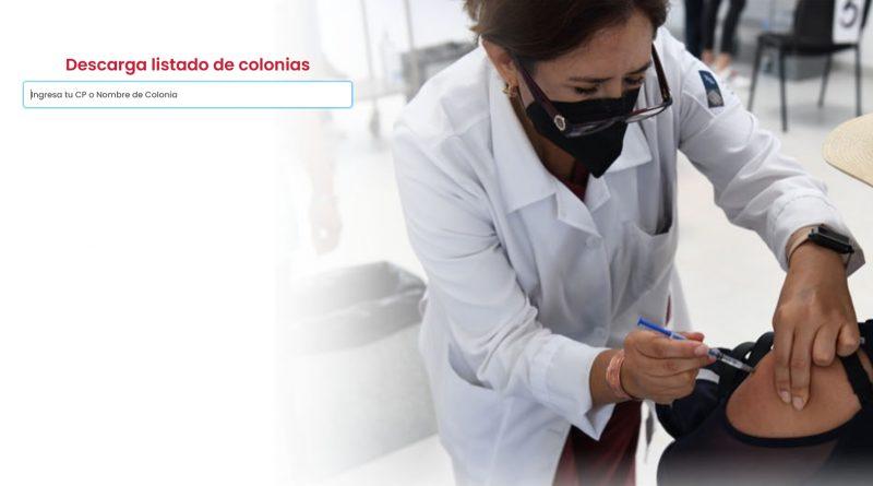 Colonias en dode vacunarse Puebla