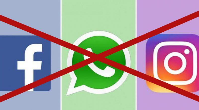 Facebook whatsapp e instagram dejan de funcionar