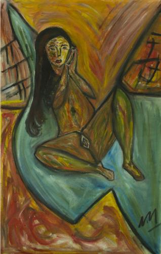 Mujer en su cama II